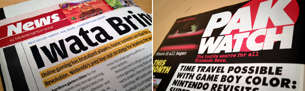 "Nintendo Power's news section went through many name changes, such as ""News"" in the mid 2000s and ""Pak Watch"" in the 90s."