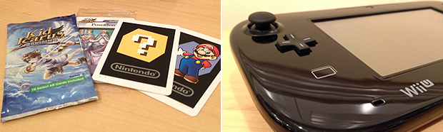 Cards live on via 3DS AR (left) and the Wii U's NFC reader (right) is poised to bring a new wave of real-life interaction.