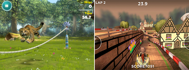 From Kinectimals (left) to Playstation All-Stars (right), both Microsoft and Sony have experimented with side games on mobile.