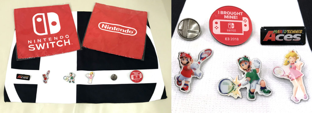 Win all this official E3 swag by commenting below! (Click to enlarge photo)